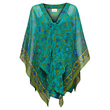 Buy East Nika Print Kaftan, Blue Peacock Online at johnlewis.com