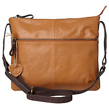 Buy White Stuff Eliza Leather Across Body Bag, Natural Tan Online at johnlewis.com