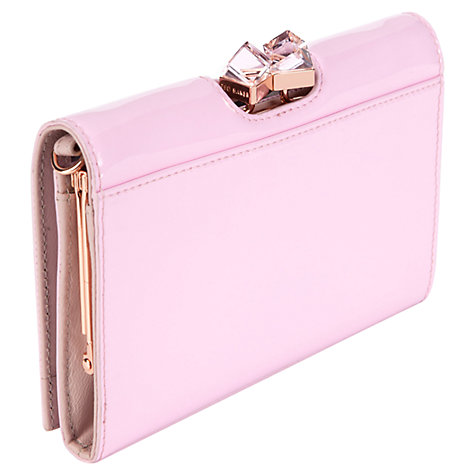 Buy Ted Baker Linner Crossbody Leather Purse, Pink Online at johnlewis.com