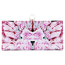 Buy Ted Baker Ippari Print Leather Matinee Purse, Pink Print Online at johnlewis.com