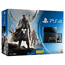 Buy Sony PlayStation 4 500GB Console with Destiny Online at johnlewis.com