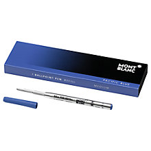Buy Montblanc Ballpoint Pen Refill, Pacific Blue Online at johnlewis.com