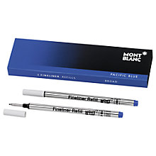 Buy Montblanc Fineliner Refills, Pack of 2 Online at johnlewis.com