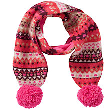 Buy Donna Wilson for John Lewis Girls' Intarsia Scarf, Pink Online at johnlewis.com