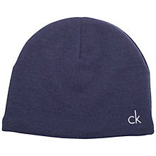 Buy Calvin Klein Golf Essential Beanie, One Size, Navy Online at johnlewis.com