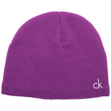 Buy Calvin Klein Golf Reversible Beanie Hat, One Size, Purple Online at johnlewis.com