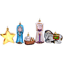 Buy Bombki Away In A Manger Nativity Tree Ornaments, Set of 5 Online at johnlewis.com