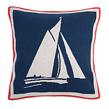 Buy Seasalt Set Sail Knitted Cushion Online at johnlewis.com