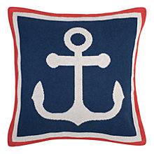 Buy Seasalt Anchor Knitted Cushion Online at johnlewis.com