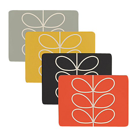 Buy orla kiely linear stem placemat set of 4 john lewis for Set de table matelasse