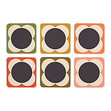 Buy Orla Kiely Flower Spot Coasters, Set of 6 Online at johnlewis.com
