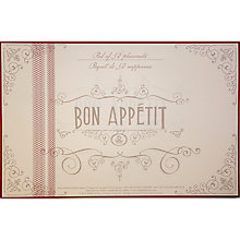 Buy John Lewis Bon Appetit Disposable Placemat Pad, Pack of 50 Online at johnlewis.com