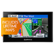 Buy Garmin nüvi 2589LM GPS Navigation System, Free Lifetime Europe Maps Online at johnlewis.com