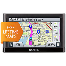 Buy Garmin nüvi 55LM GPS Navigation System, Free Lifetime Western Europe Maps Online at johnlewis.com