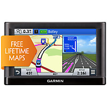 Buy Garmin nüvi 65LM GPS Navigation System, Free Lifetime Europe Maps Online at johnlewis.com