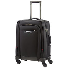 Buy Samsonite Pro-DLX4 55cm 4-Wheel Cabin Suitcase, Black Online at johnlewis.com