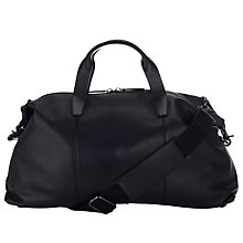 Buy John Lewis Cruz Leather Holdall Bag, Black Online at johnlewis.com