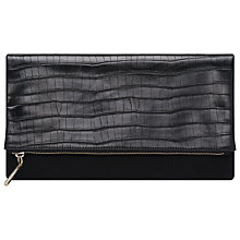 Buy French Connection Sally Fold Over Clutch Bag, Black Online at johnlewis.com