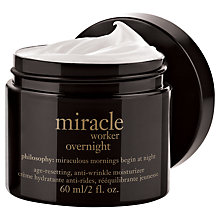 Buy Philosophy Miracle Worker Overnight Moisturiser, 60ml Online at johnlewis.com