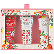 Buy Cath Kidston Flora Pink Geranium Hand Cream Trio Online at johnlewis.com