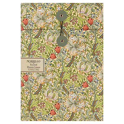 Image of Heathcote & Ivory Morris & Co Golden Lily Scented Drawer Liners, x 5 Sheets