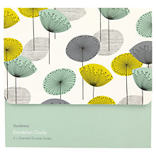 Buy Heathcote & Ivory Dandelion Clocks Scented Drawer Liners, x 6 Sheets Online at johnlewis.com