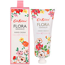 Buy Cath Kidston Flora Pink Geranium Hand Cream, 100ml Online at johnlewis.com