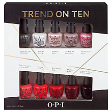 Buy OPI Nails Nail Lacquer Trend On Ten 10 Pack Gift Set Online at johnlewis.com