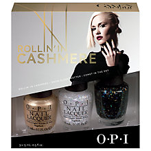 Buy OPI Gwen Stefani Rollin in Cashmere, 3 x 15ml Online at johnlewis.com