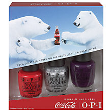 Buy OPI Nails - Nail Lacquer - Coca-Cola Collection Trio Gift Set Online at johnlewis.com