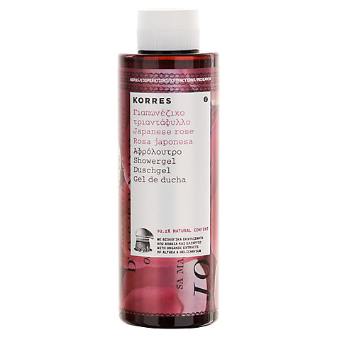 Buy Korres Japanese Rose Shower Gel, 250ml Online at johnlewis.com
