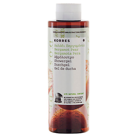 Buy Korres Bergamot Pear Shower Gel, 250ml Online at johnlewis.com