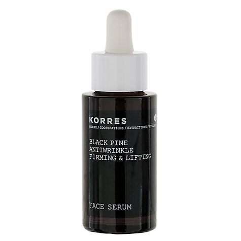 Buy Korres Black Pine Antiwrinkle Firming And Lifting Face Serum, 30ml Online at johnlewis.com