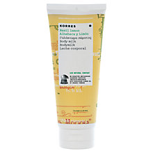 Buy Korres Basil Lemon Body Milk, 200ml Online at johnlewis.com