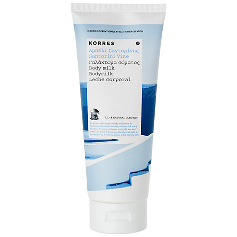 Buy Korres Santorini Vine Body Milk, 200ml Online at johnlewis.com