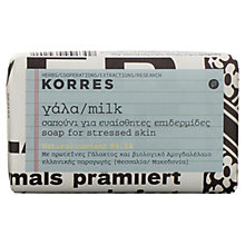 Buy Korres Milk Soap, 125g Online at johnlewis.com