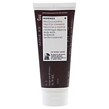 Buy Korres Vanilla Cinnamon Body Milk, 200ml Online at johnlewis.com