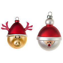 Buy Alessi Babbarenna & Babbonatale Christmas Bauble Decorations, Set of 2 Online at johnlewis.com