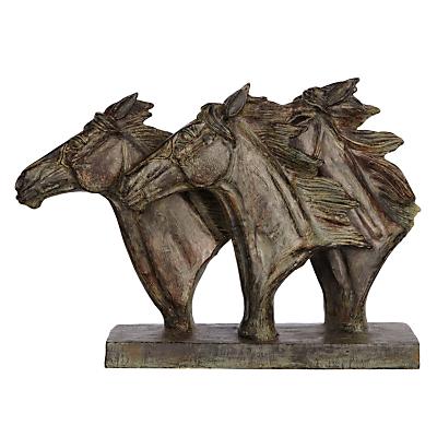 Image of Libra Horse Trio Head Sculpture
