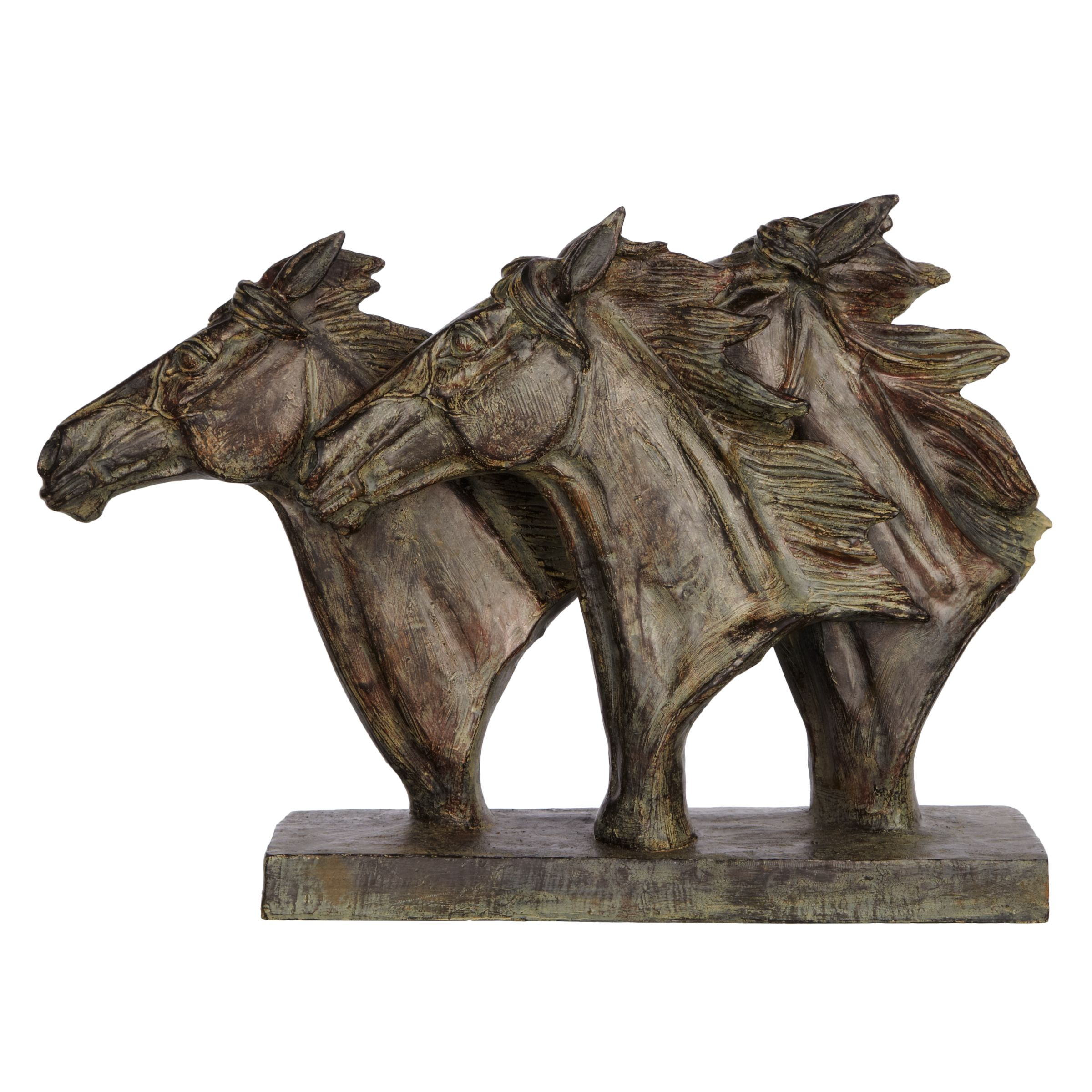 Libra Libra Horse Trio Head Sculpture