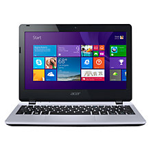 "Buy Acer Aspire E3-111 Laptop, Intel Celeron, 4GB RAM, 500GB, 11.6"", Silver + Norton 360 Online at johnlewis.com"