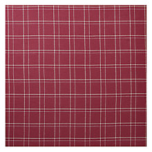 Buy John Lewis Coppice Check Fabric, Crimson Red, Price Band C Online at johnlewis.com