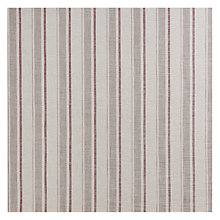 Buy John Lewis Parton Stripe Twill Fabric, Natural Cranberry, Price Band D Online at johnlewis.com