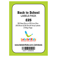 Buy Labels4Kids School Multi-Pack Online at johnlewis.com