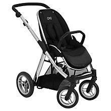 Buy Babystyle Oyster Max Stroller Chassis and Seat, Mirror Finish Online at johnlewis.com
