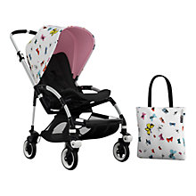 Buy Bugaboo Bee3 Andy Warhol Sun Canopy & Tote Bag, Butterflies/Pink Online at johnlewis.com