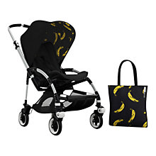Buy Bugaboo Bee 3 Andy Warhol Sun Canopy & Tote Bag, Bananas/Black Online at johnlewis.com