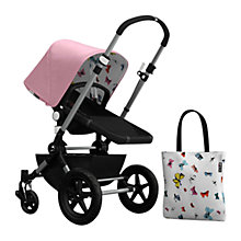 Buy Bugaboo Chameleon3 Andy Warhol Sun Canopy & Tote Bag, Pink/Butterflies Online at johnlewis.com
