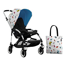 Buy Bugaboo Bee3 Andy Warhol Sun Canopy & Tote Bag, Butterflies/Blue Online at johnlewis.com
