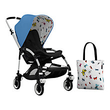 Buy Bugaboo Bee3 Andy Warhol Sun Canopy & Tote Bag, Blue/Butterflies Online at johnlewis.com